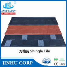 building materials shingle shape of stone coated metal roof tiles