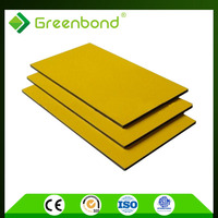 Greenbond attractive discount golden/silver brush finished chameleon color Aluminum Composite Panel with perfect quality
