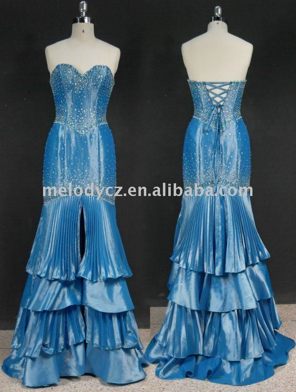 Strapless beading wrinkle layer bandage big ass ghanaian dresses for sale