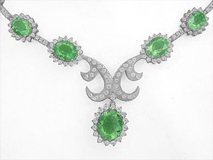 Colombian emerald and diamonds Necklaces