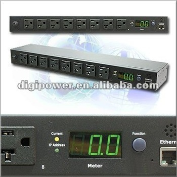Monitored PDU 8 ports 115V 20 amp Rack Type