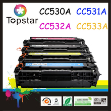 stable quality factory in Zhuhai * Compatible laser toner 304A CC530A 531A 532A 533A color toner cartridge FOR HP PRINTER 2020