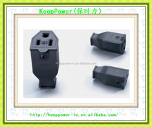 American power plug can be connected to the 15A 110V American standard plug removable and free solder assembly SS-159