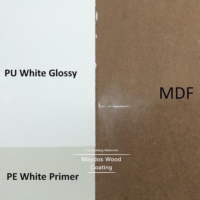 Anti sink back white primer wood polyester coating for MDF