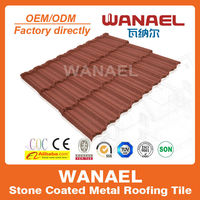 Traditional Wanael stone coated roof sheet/ heat resistant roof insulation/low cost house construction material