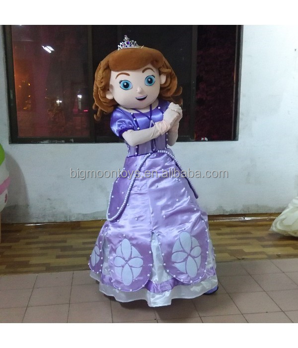 2016 hot customized frozen elsa mascot costume,sofia the first mascot costume