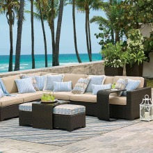 Modern Style 9 seater sectional garden bench craft wicker furniture