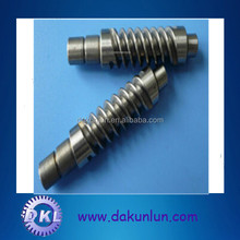 Stainless Steel Custom Machined Worm Gear Screw Shaft