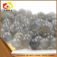 Grey color natural round ball rainbow moonstone beads price