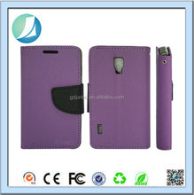 Wholesale OEM Classic Wallet Leather Case for LG Optimus L7 II P710