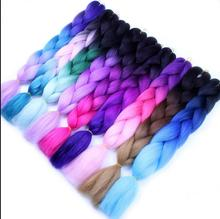 Synthetic Hair Material and 100g Weight synthetic jumbo braid hair, ombre color 2 tones and 3 tones braiding hair