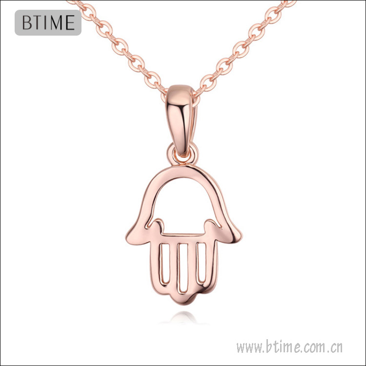 16K Gold plating hand shaped pendant necklace