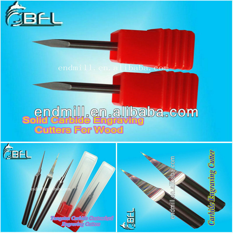 CNC Tungsten Carbide Micro Engraving Cutter Solid Tools bits for wood work cutting / woodworking industrial bits