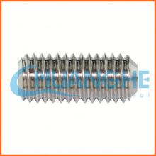 china supplier carbon steel hex socket head set screws with white zinc plated