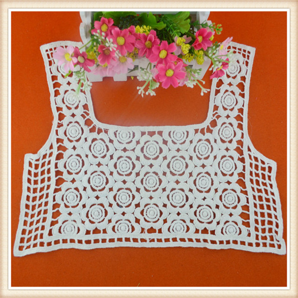 Fancy design off white color cotton hand work neck embroidery designs for ladies dress