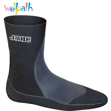 Keep warm 3mm Neoprene Scuba dive socks Snorkeling shoes Anti slip soles Prevent hurt Winter swim Boots