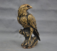 Looking fierce desert eagle birds bronze sculpture