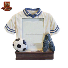 "Sport theme 3.5"" x 5"" resin soccer picture frame"
