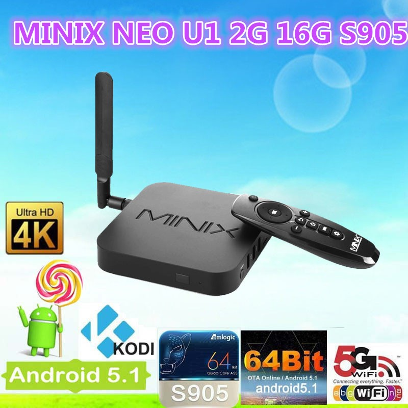 The Original MINIX NEO <strong>U1</strong>+NEO A2 lite Android TV Box Amlogic S905 2G 16G