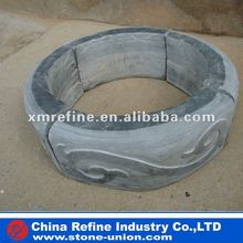 Round natural black roofing slate