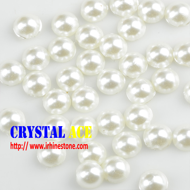 Good Quality Hotfix Transfer Pearls Iron on Half Round for Wedding