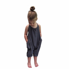 VICVIK Baby Clothes Girl Set Kids Fashion Sling Girls Summer Jumpsuit Children Sport Suits Cotton Sleeveless Kids Clothes