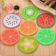 Customized Food Grade Silicone rubber table top mat ,<strong>Kids</strong> fashion drawing table mat,fruit design cup mat