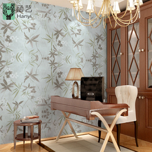 Bamboo leaf pattern classic wallpaper designs for home decor, chinoiserie wallpaper