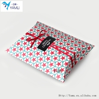 Custom Made Recycled Brown Kraft Paper Pillow Box/Bag With Logo Print For Gift