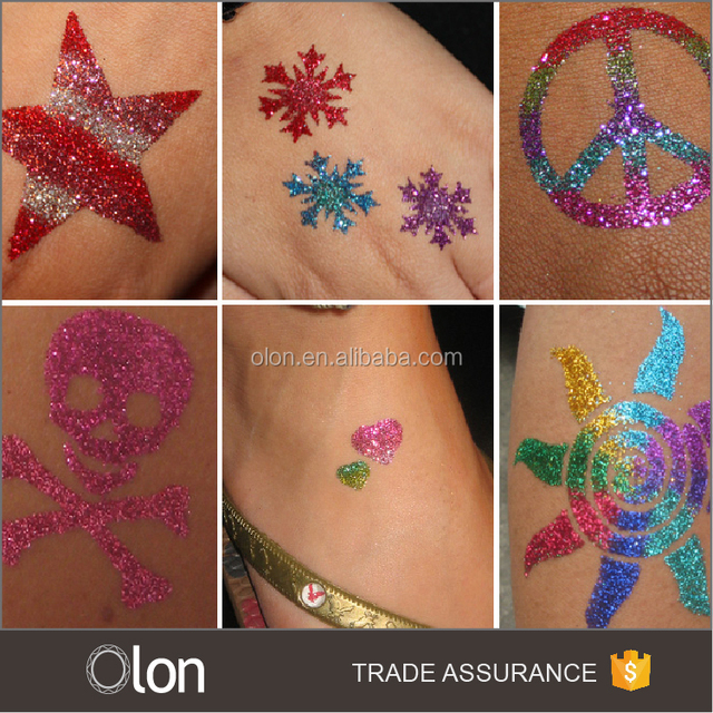 Customized Kids glitter tattoo