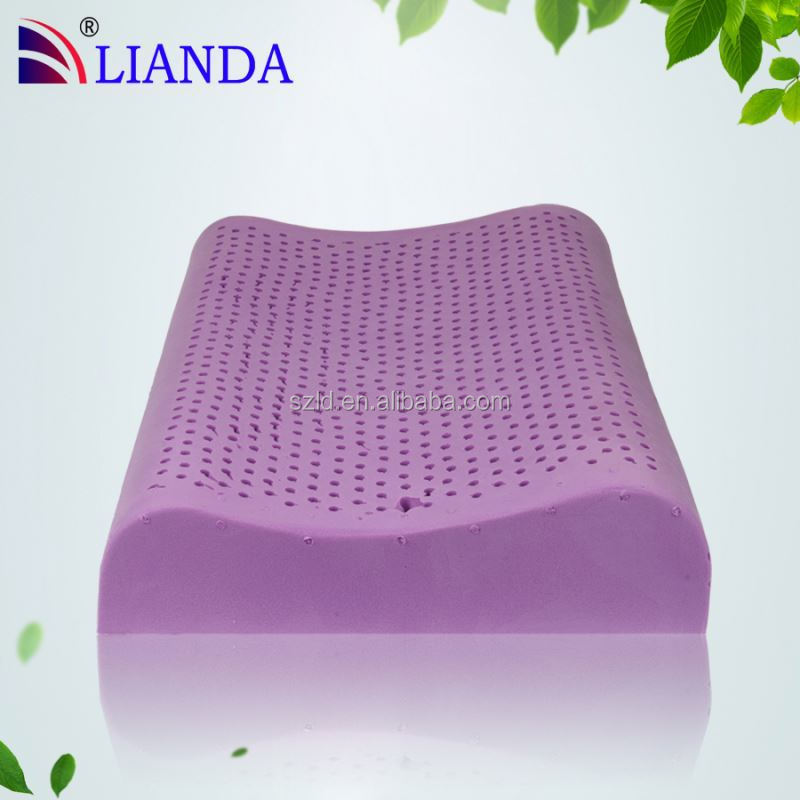 New Product! Lavender art holes natural latex rubber latex pillow