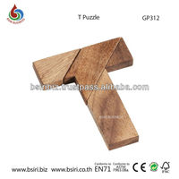 IQ Game T Wooden Puzzle