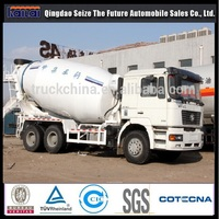 Self-loading mixer truck Shacman F2000 truck mounted concrete pump