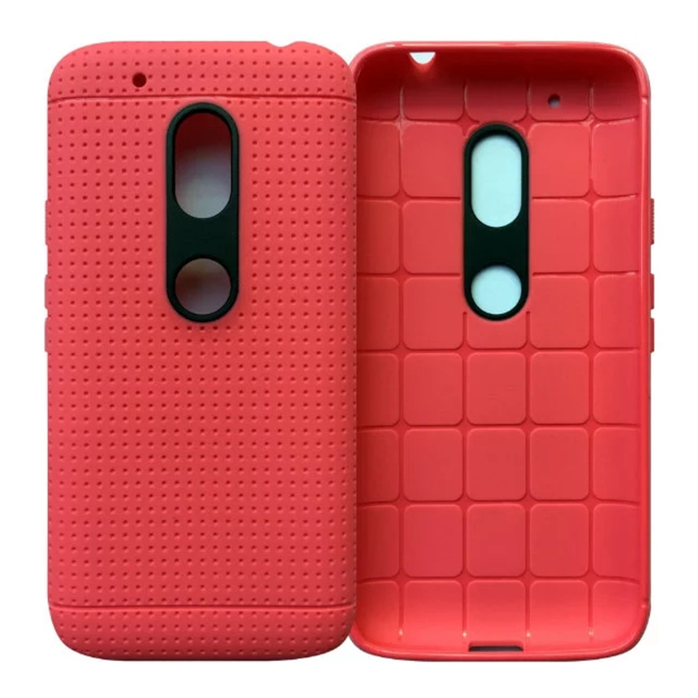 Honeycomb soft tpu silicone back cover case for Motorola moto g4 play