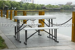 Plastic folding beer table and bench,garden furniture outdoor cheap plastic folding table and chairs