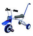 Hot sale new baby tricycle with push bar lighting wheel children tricycle Baby trike
