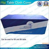 Custom table cloth for Wedding or trade show (NF18F05012)