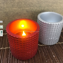 LED flickering crafts candles red sparkling round large size candles