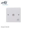 best price white abs single port wall panel tv faceplate on sale