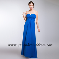 2017 New design strapless sweetheart neckline Pleats bridesmaid dresses