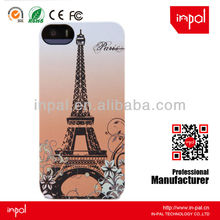 High-end effiel tower rubber case for iphone 5