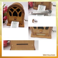 Wooden DIY Musicsheet Paper Strip Handcrank Musical Box MB 023-4
