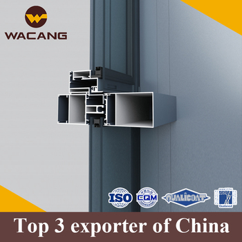 Chinese Factory tempered aluminum curtain wall profile