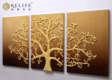 wall relief painting with tree pictures &3D wall arts for home decor C8006C
