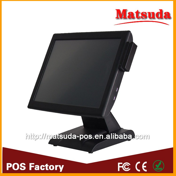 china cheap price! 15 inch touch screen pos system electronic cash register from pos factory