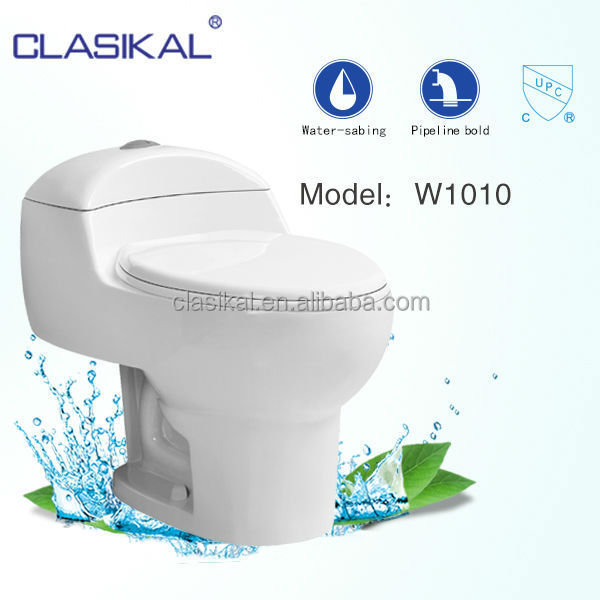 water saving auto clean toliet one piece siphonic WC toilet sanitary