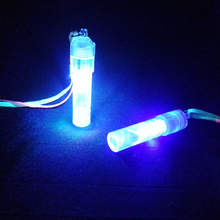 Promotion plastic LED flashing ring whistle