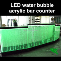 used commercial LED bar table acrylic base restaurant bar counters for sale