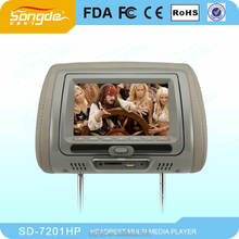 7 Headrest DVD with IR FM USB SD Zipper Cover