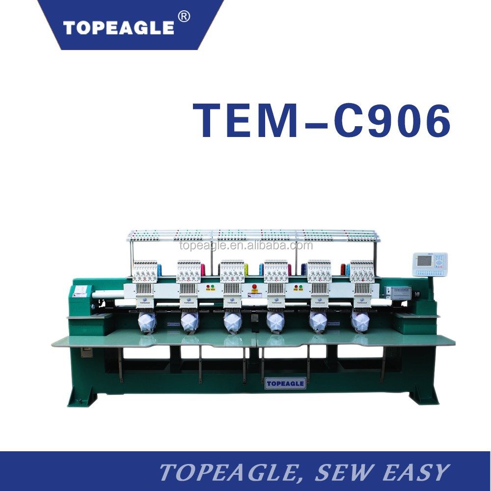 TOPEAGLE TEM-C906 6 head 9 needle computer embroidery machine price